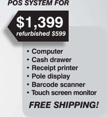 POS SYSTEM FOR $1,399 refurbished $599 FREE SHIPPING!