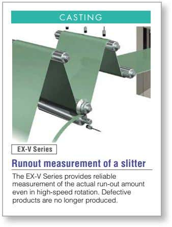 CASTING EX-V Series Runout measurement of a slitter The EX-V Series provides reliable measurement of