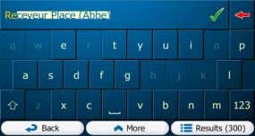 Virtual Alphabetic and alphanumeric keyboards to enter text and numbers.