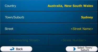 can search for a town/suburb/town/suburb in all its states. 4. Select a new town/suburb/town/suburb: a. Tap