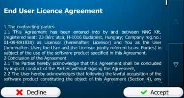 2. Read the End User Licence Agreement. Tap to continue. 3. You are now asked whether