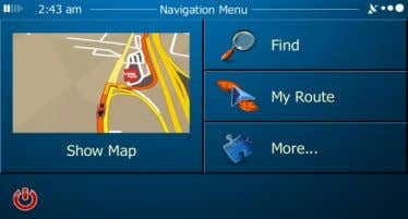reach all parts of the software from the Navigation menu. You have the following options: 