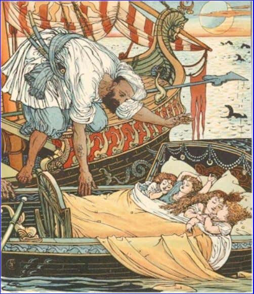 eBook of The Song Of Sixpence Picture Book, by Walter Crane. So she had a boat