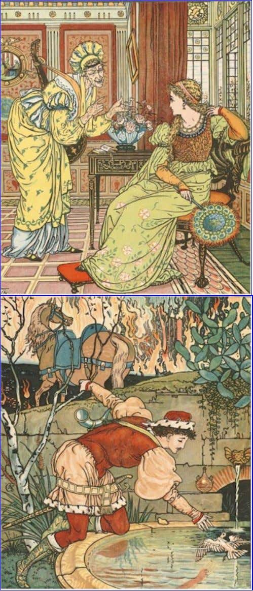 The Project Gutenberg eBook of The Song Of Sixpence Picture Book, by Walter Crane. PRINCESS BELLE-ETOILE.