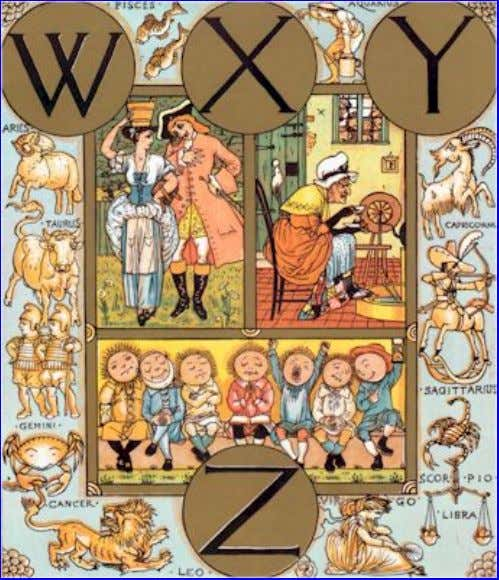 "eBook of The Song Of Sixpence Picture Book, by Walter Crane. W ""Where are you going,"