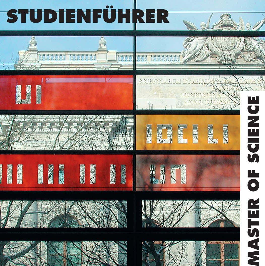 STUDIENFÜHRER MASTER OF SCIENCE