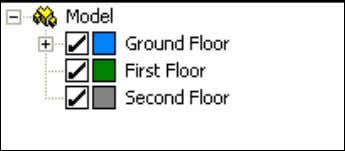 all room groups within the 'Floors' grouping scheme: By right clicking on a room, selection of
