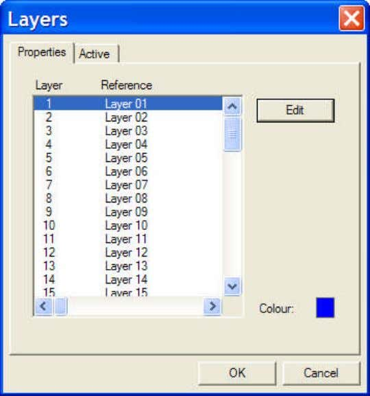 "allows the user to select a layer and ""Edit"" the properties: The two properties are name"