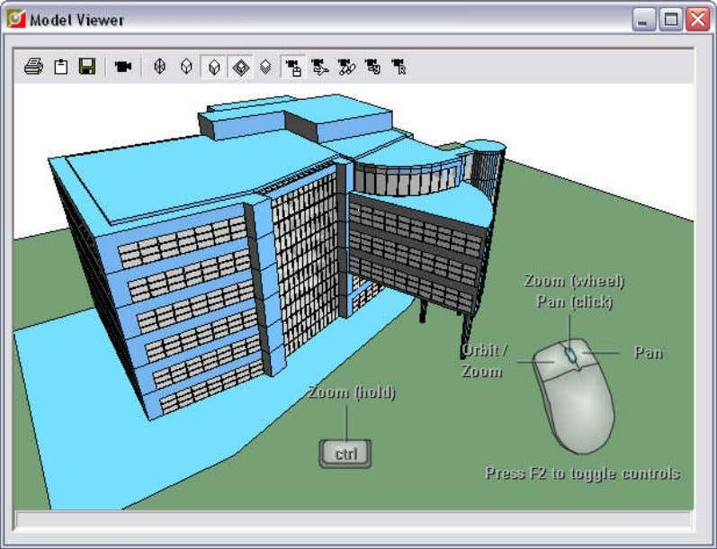 the bottom right corner of the Model Viewer by pressing F2. By default, controls are displayed