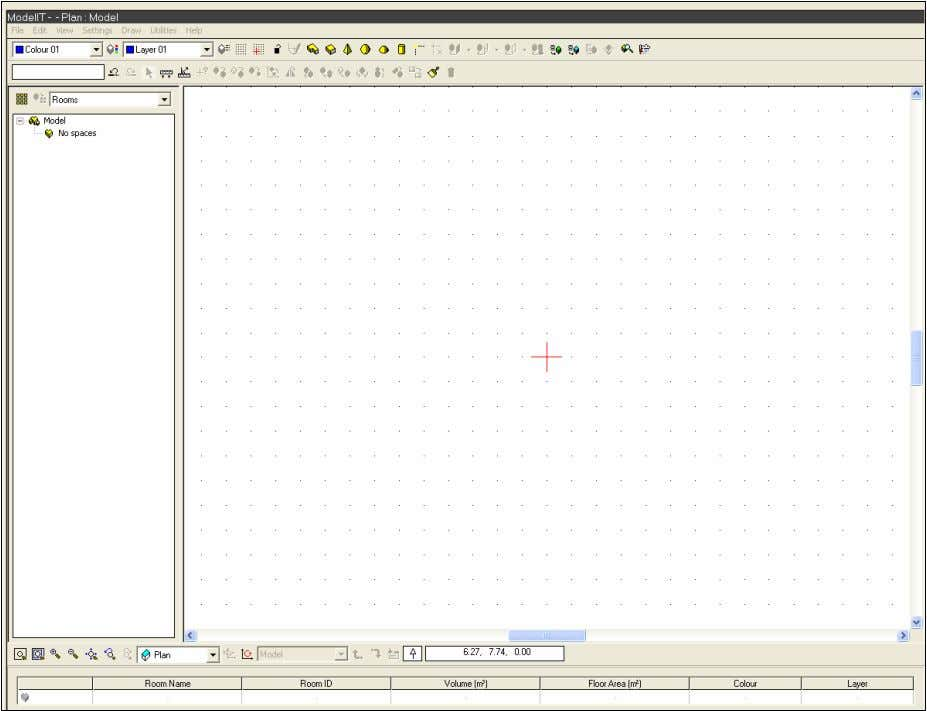the ModelIT workspace, with the Model Browser on the left. The default window background is black;