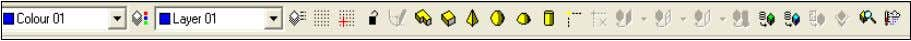 2.2.2. Model Toolbar This contains functions mainly associated with creating models. 2.2.3. Edit Toolbar This contains