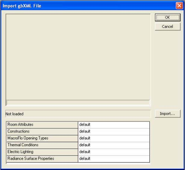 file format into ModelIT. The following window is displayed. Click Import to bring up the following