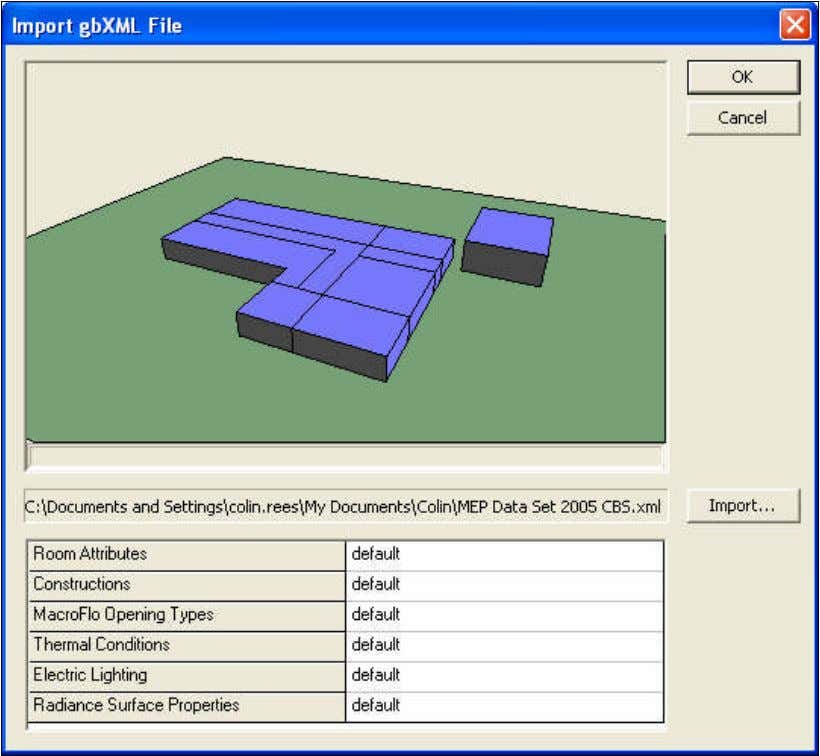  Electric lighting  Radiance surface properties Click OK to confirm the geometry import. If the