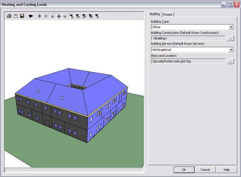 This window allows the imported model to be viewed with the modelviewer controls. Template data
