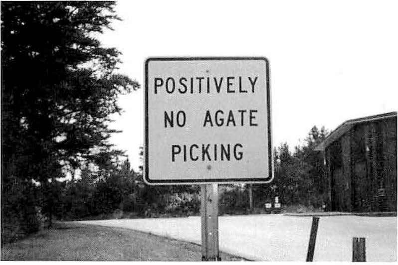POSITIVELY NO AGATE PICKING I