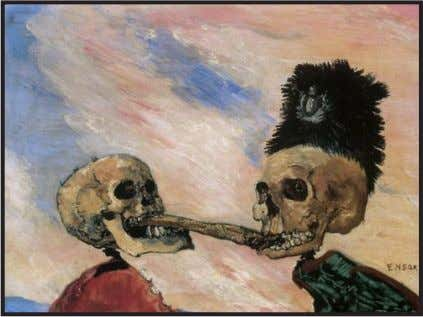 ��e é mais do ��e a soma de s�as partes. Fig. 14 - James Ensor: Esqueletos