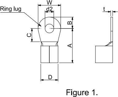over the live part. Please refer to the following figure 2. Dimensions of Ring Lug Frame