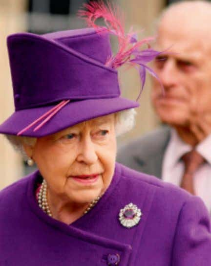 The Queen wears the colour purple to a function and Camilla, Duchess of Cornwall, looks