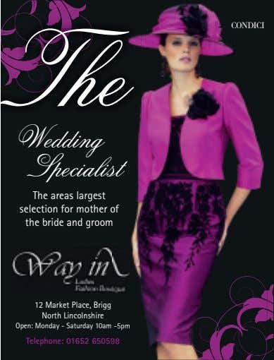 The e CONDICI Wedding Specialist st The areas largest selection for mother of the bride