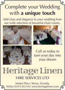Complete your Wedding with a unique touch Add class and elegance to your wedding from