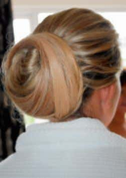 HAIR North Eastern Hairdresser Of The Year Alexander Turnbull styles a bride's hair Luscious locks A
