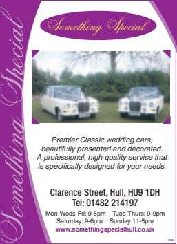 Something Special Premier Classic wedding cars, beautifully presented and decorated. A professional, high quality ser