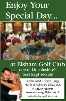 Enjoy Your Special Day at Elsham Golf Club one of Lincolnshire's best kept secrets Barton