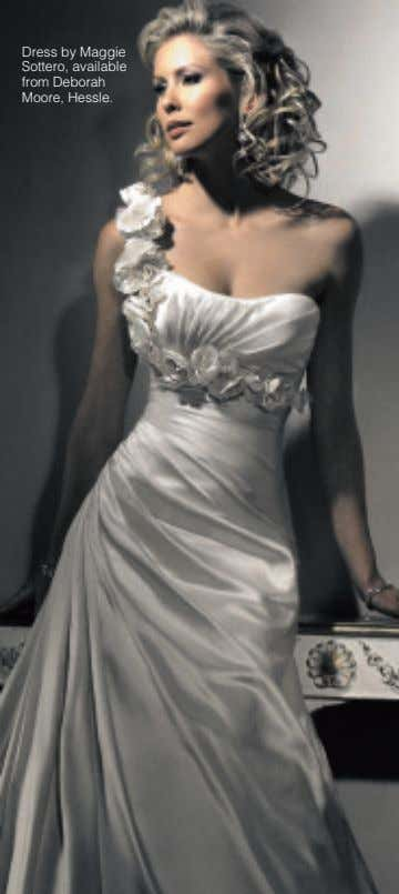 Dress by Maggie Sottero, available from Deborah Moore, Hessle.