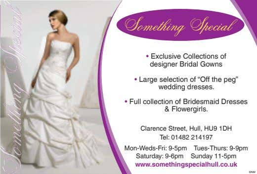 "Something Special • Exclusive Collections of designer Br idal Gowns • Large selection of ""Off"