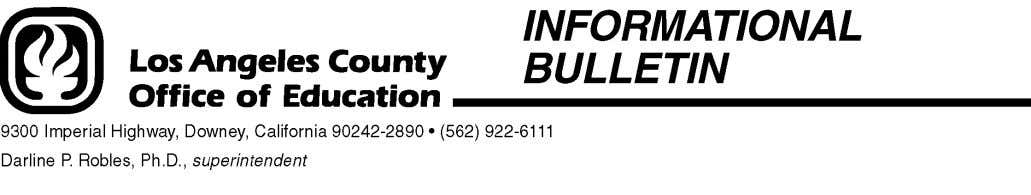 Bulletin No. 369 June 14, 2004 TO: Business Administrators Selected Los Angeles County School Districts