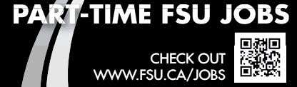 PART-TIME FSU JOBS CHE CK OUT CHECK OUT WWWWWW.FSU.CA/JOBS.FSU.C A/JOBS
