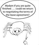 Madam if you are quite nished could we return to negotiating the terms of the