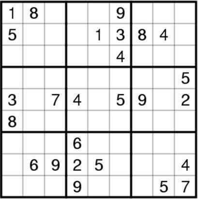yearly fast food intake will contain 12 Sudoku Puzzle puzzle rating: medium Fill in the grid