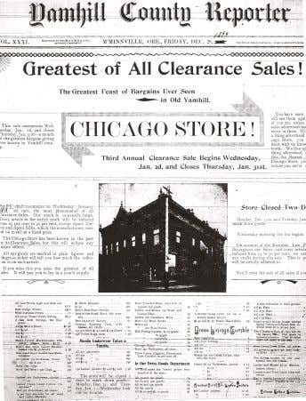 Mercantile Co. was a strictly cash business, fighting against credit issues that plagued the Chicago Store