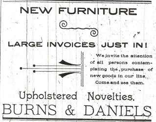 wire fence ad Below: Several advertisements put out by H.C. Burns, who originally was a partner
