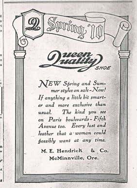 in 1898. Below: Two of Hendrick's advertisements after becoming sole proprietor of his grocery and dry