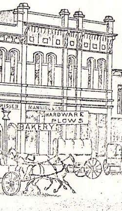 an elaborate advertising campaign put on by Samuel Manning Above: An 1880's sketch of Samuel Manning's