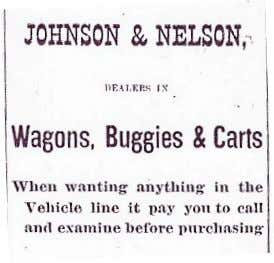 1900 ad for Ferguson, largely advertising farm implements Above: Johnson's closing advertisement from 1900 Below: