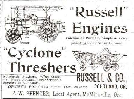 Above: Johnson's closing advertisement from 1900 Below: Two circa 1902 advertisements put out by F.W. Spencer