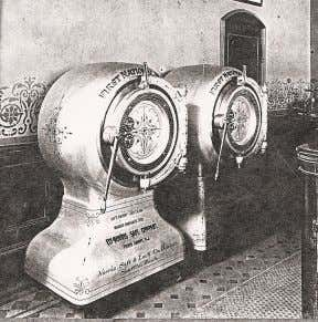 Below: The original heavy safes used by First National Bank Above: An 1890's advertisement for First