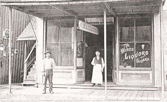 Dutch George's Saloon sometime before the mid-1890's. A. Schilling ! A. Schilling (full first name unknown)