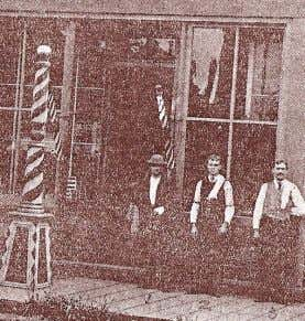 corner of third and Cowls where Bradley operated his barber Above: A grainy early 1890's photo