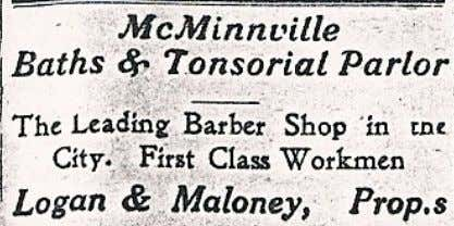 is farthest to the left. William Logan, late 1800's Above: Logan and Maloney released this advertisement