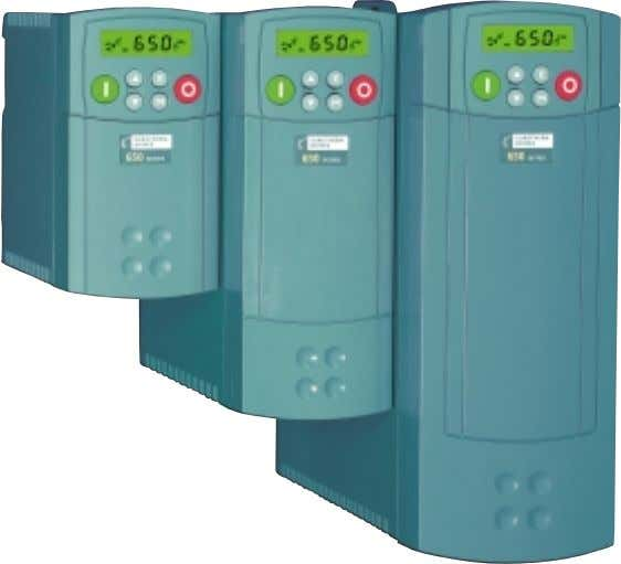 all units are available with integral EMC compliant filters. E XTREMELY SIMPLE SET - UP AND
