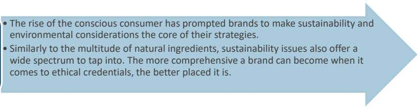 • The rise of the conscious consumer has prompted brands to make sustainability and environmental