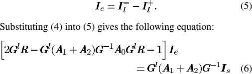 (5) Substituting (4) into (5) gives the following equation: (6)