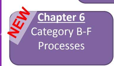 Chapter 6 Category B-F Processes