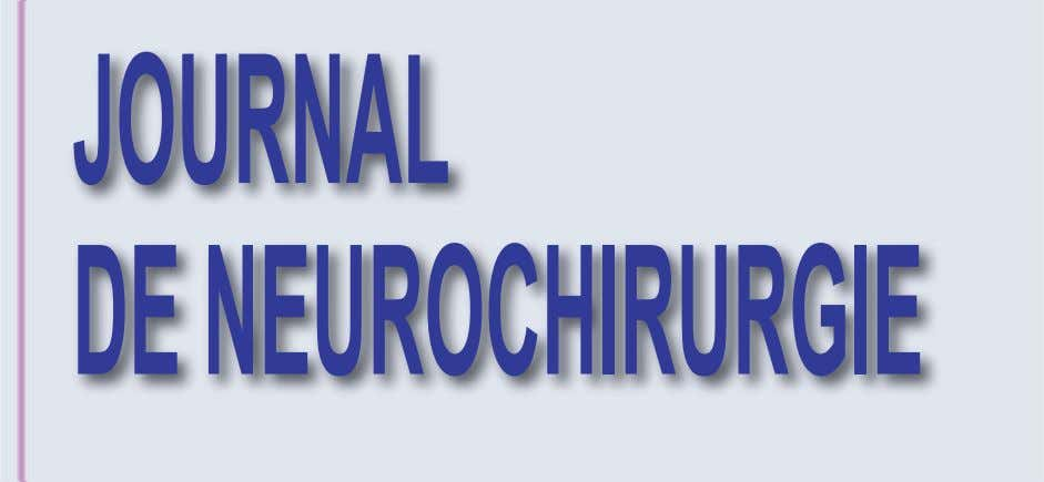 JOURNAL DE NEUROCHIRURGIE