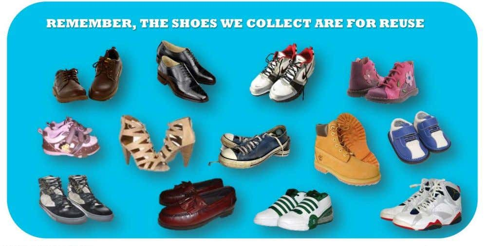 THAT COLLECTS THE MOST SHOES IN WEIGHT BY JUNE 30 T H . Contact Us Molly