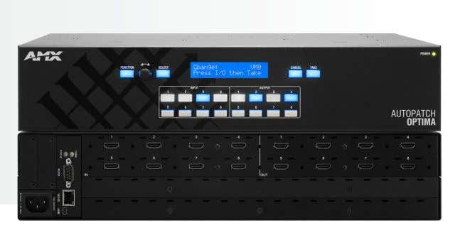 Matrix Switcher Digital Video with HDMI OPTIMA DATA SHEET The Optima 8x8 HDMI Matrix Switcher can